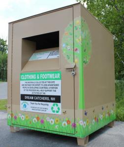clothing textile recycling bin Ecosmith Recycling Inc NH